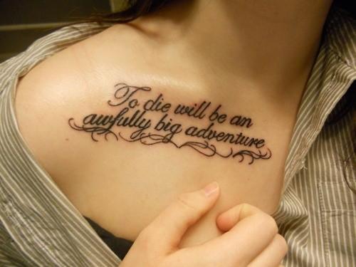 beautiful-collarbone-tattoo-quoteEntertainmentMesh ...