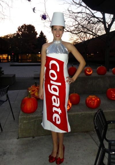 Colgate lady diy last minute halloween costume idea