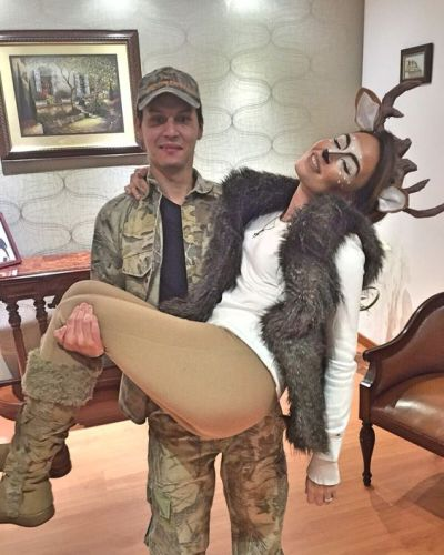 Hunter and deer Halloween costume for couples