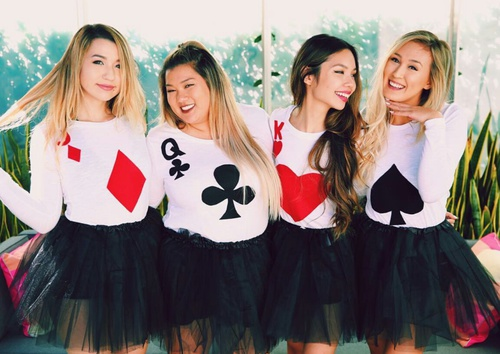 dress as playing deck of cards halloween group costume ideas