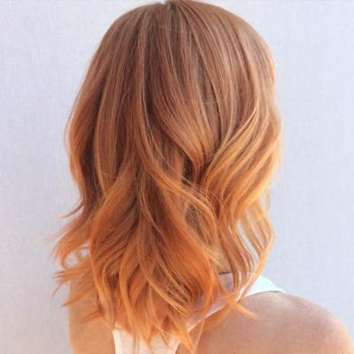 Cute hair color for fall rosewood to strawberry blonde ombre