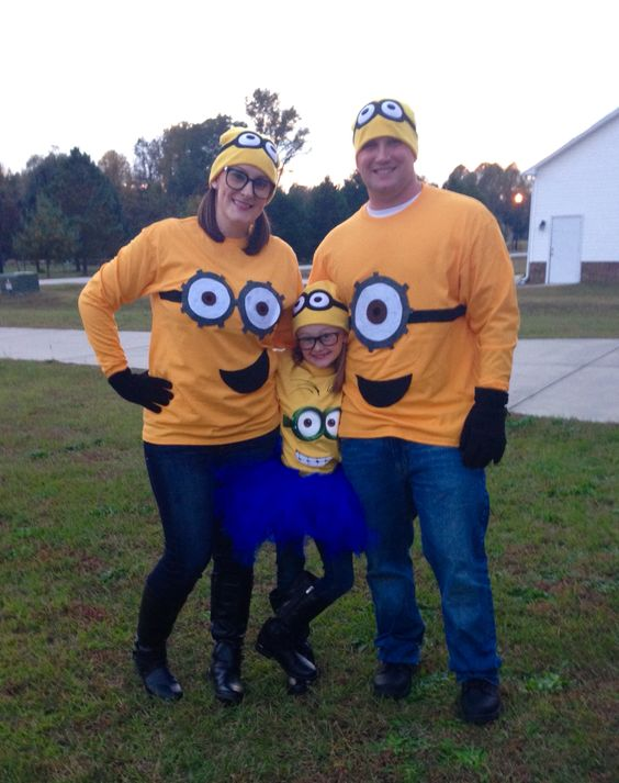 DIY Minion family costume ideas