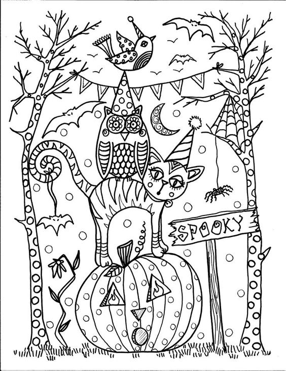I love this Halloween coloring Page