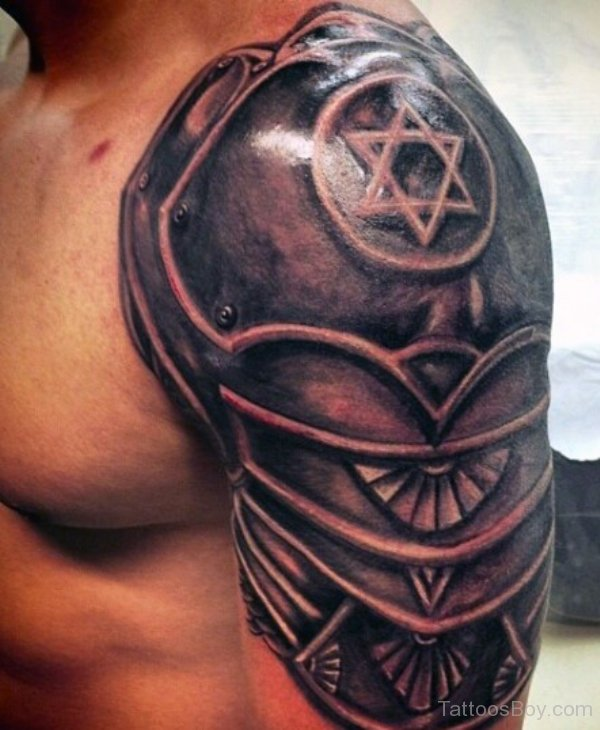 Star Armor Tattoo On Sleeve