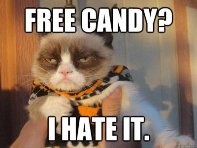 free candy i hate it