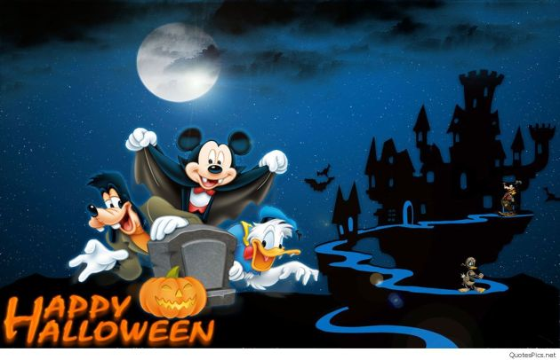 happy halloween walt disney cartoon wallpapers
