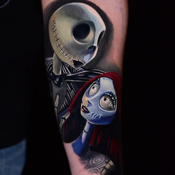 jack skellington and sally love tattoo
