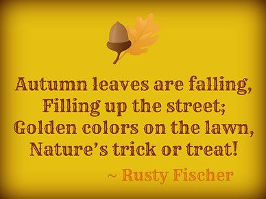 nature's trick or treat