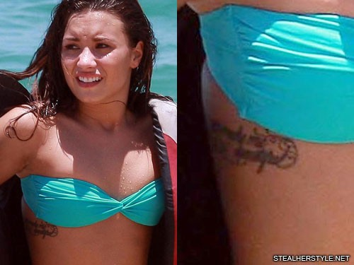 Demi Lovato First Tattoo