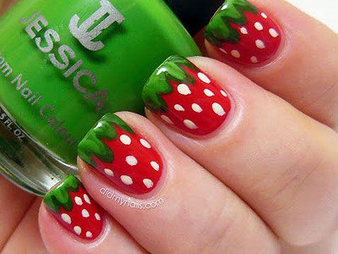 Strawberry Nail Art Designs - Strawberry Nail Art Design EntertainmentMesh