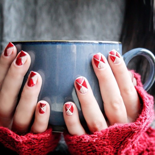 Winter Nail pattern design