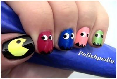 cool-Pac-man-nail-art