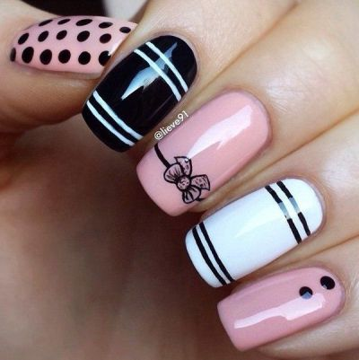 cute-summer-nail-designs-with-bow
