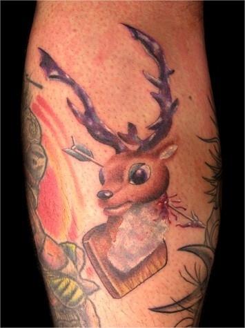 reindeer frame tattoo