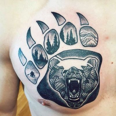 A Bear Paw Tattoo