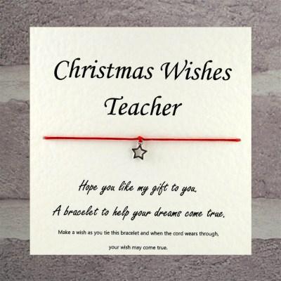 cards to teachers wishing merry Christmas