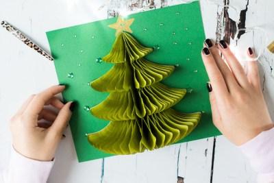 Christmas card pop up
