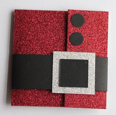 easy handmade Christmas greeting Santa cards