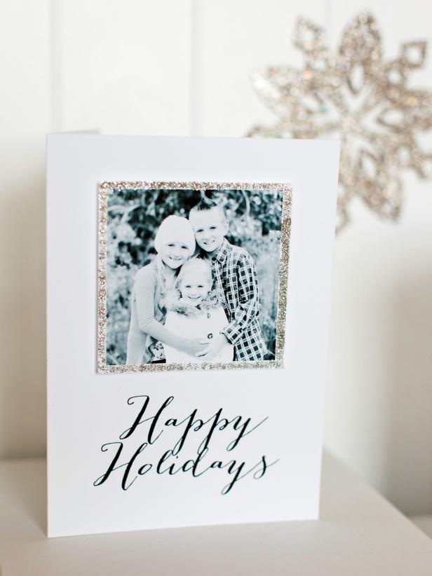 handmade Christmas greeting cards with photographs