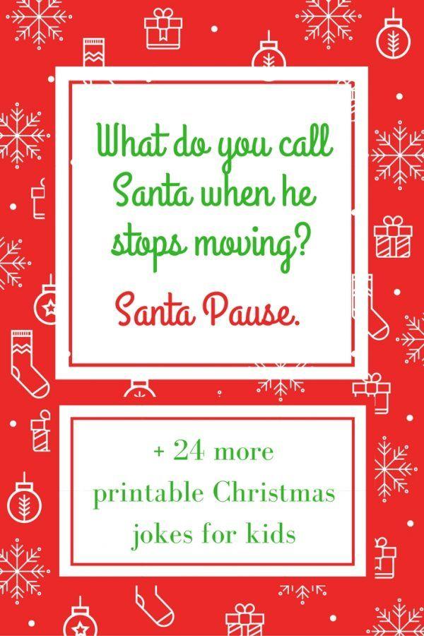 printable Christmas Santa jokes