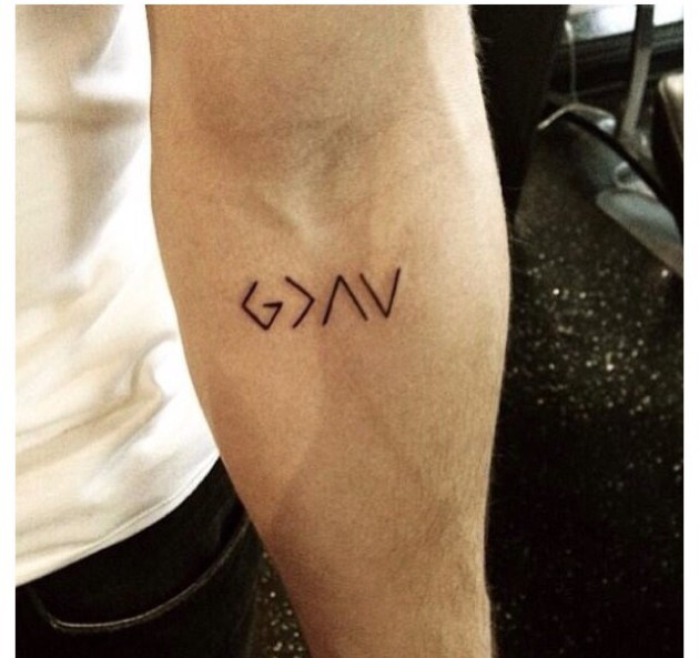 tattoo god is greater than the ups and downs