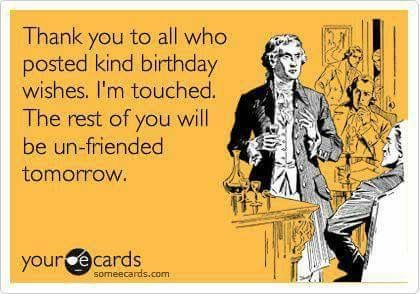 thank you funny birthday ecard ideas