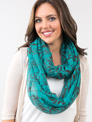 double loop knot scarf
