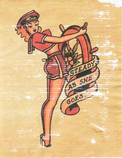 sailor jerry steady as she goes tattoo design