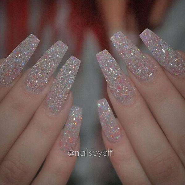 Subtle Glitter Nails