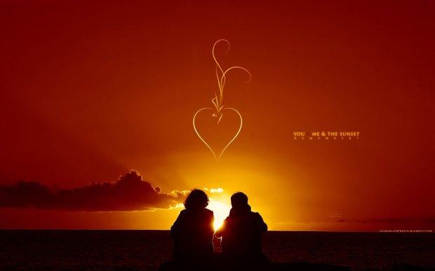 hd sunset romantic wallpaper