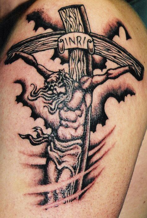 jesus christ crucifixion tattoos