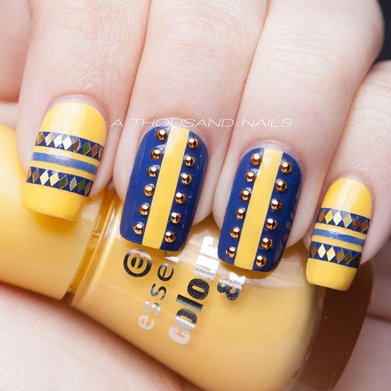 5 Stud Nail Art Design Entertainmentmesh