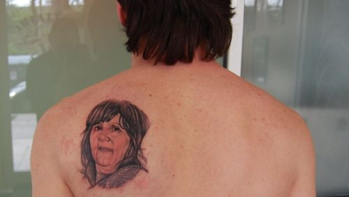 Messi Mother Portrait Tattoo