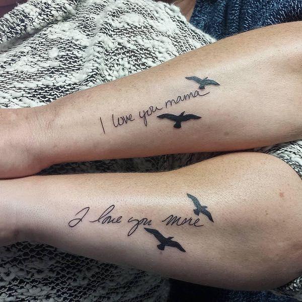 i love you i love you more tattoo