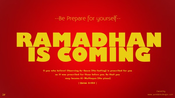 ramadhan is coming