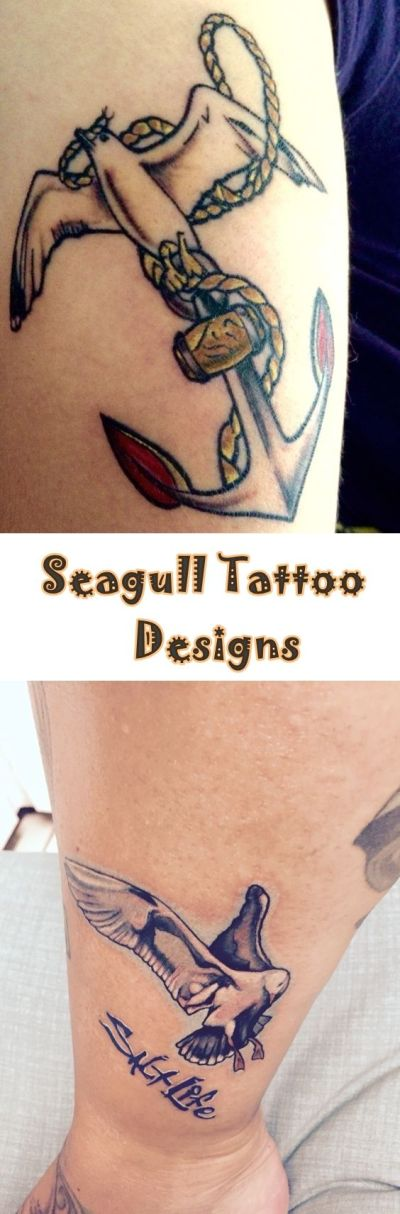 seagull anchor tattoo