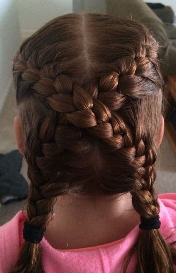 criss cross french braid pigtails