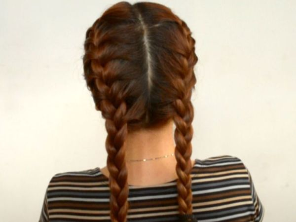 do 2 french braids
