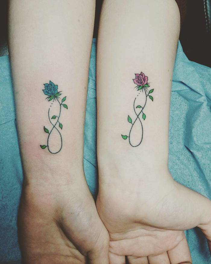 Infinity Rose Tattoo For Best Girl Friends Entertainmentmesh