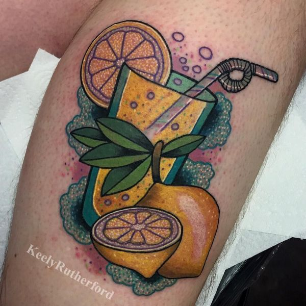 lemonade cocktail tattoo