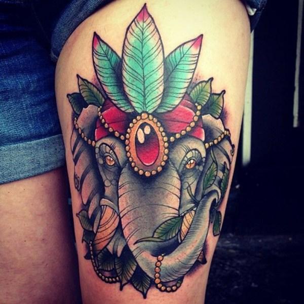 royal elephant traditional tattoos