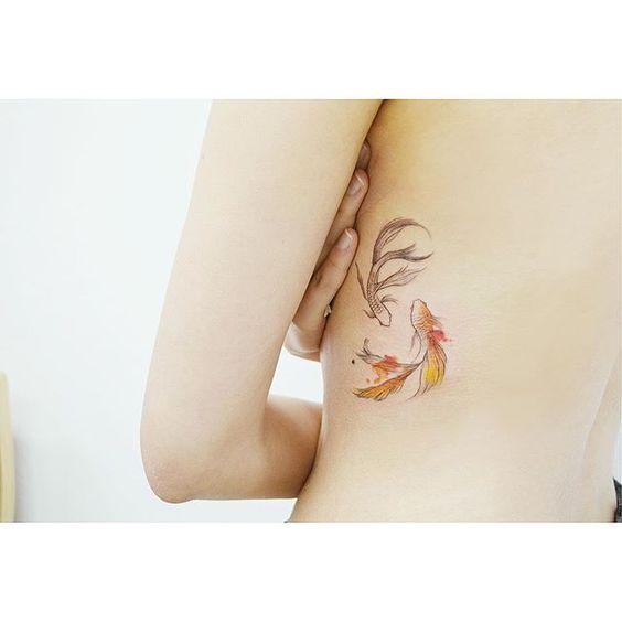 Small Koi Fish Tattoo Ideas On Rib Cage For Women Entertainmentmesh