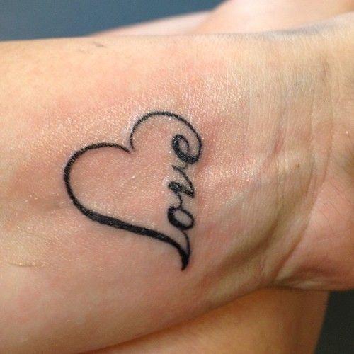love heart tattoo on wrist
