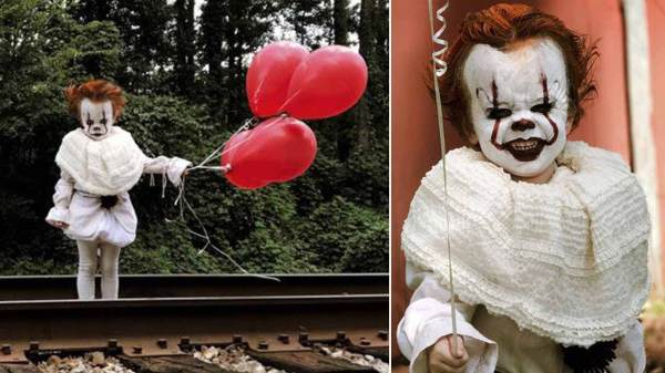 3 year old pennywise baby halloween costume ideas