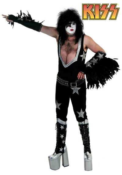 Authentic Paul Stanley Long Hair Men Costume Ideas for Halloween