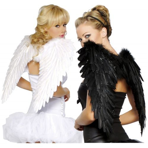 dark-light fallen angels halloween fancy college girls costume ideas