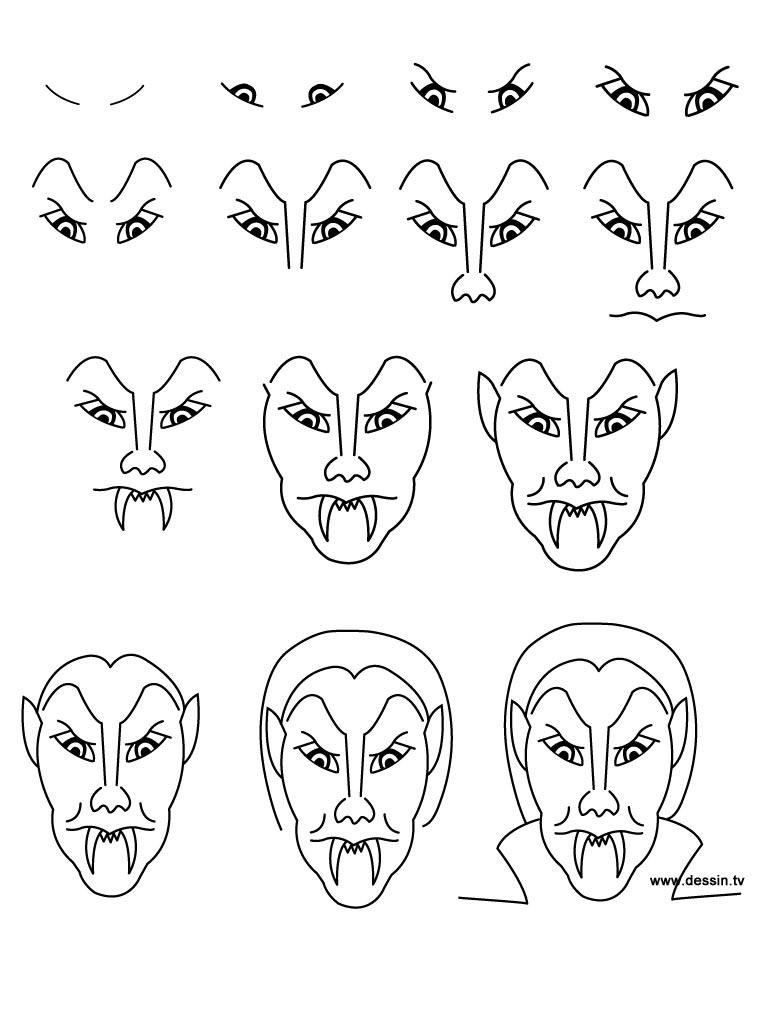 easy vampire drawing ideas for halloween | EntertainmentMesh