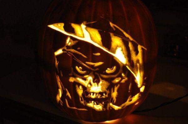 faux grim reaper pumpkin carved design ideas for halloween