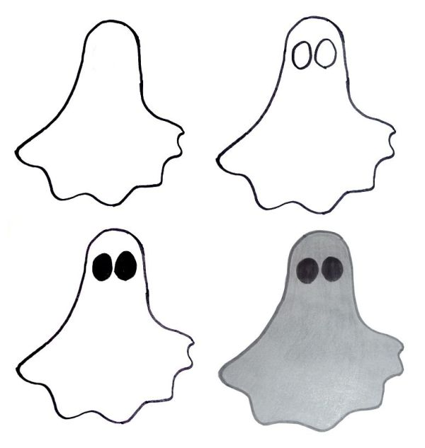 halloween ghost drawing images for kids