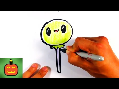 how to draw cute halloween lollipop on paper